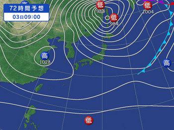 12月3日の予想天気図